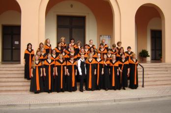 focení před kostelem Sacro Cuore, kde probíhala soutěž
