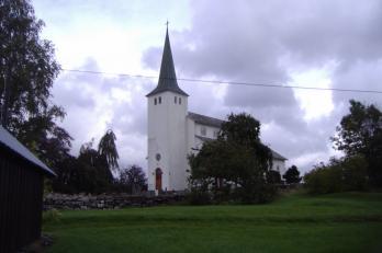 kostel na ostrově Stord