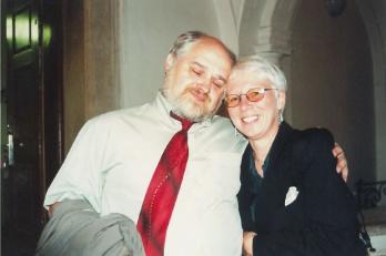 klavíristka Ludmila Čermáková s kmotrem CD Ivanem Kusnjerem
