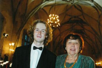 sbormistr L. Vasilek a Hlasová poradkyně D. Součková